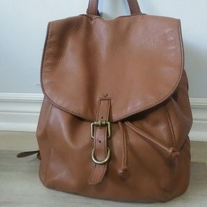 Lucky Brand Tan Leather Backpack